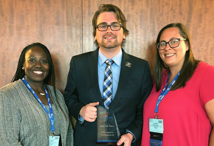Three SKYCTC students who competed in national PBL competition