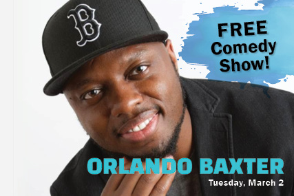 Orlando Baxter free virtual comedy show March 2nd.