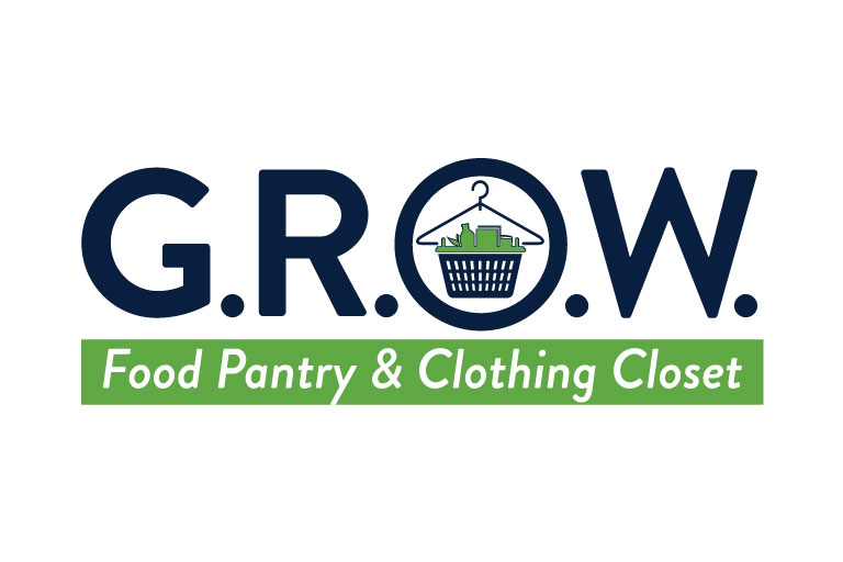 G.R.O.W. logo food pantry and clothing closet.