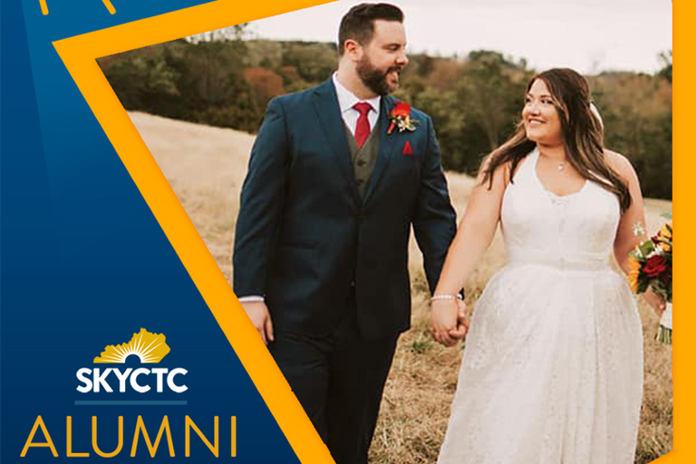 SKYCTC Alumni Spotlight: Abby and her husband on their wedding day.