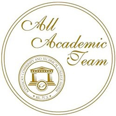 KCTCS All Academic Team logo with KCTCS crest