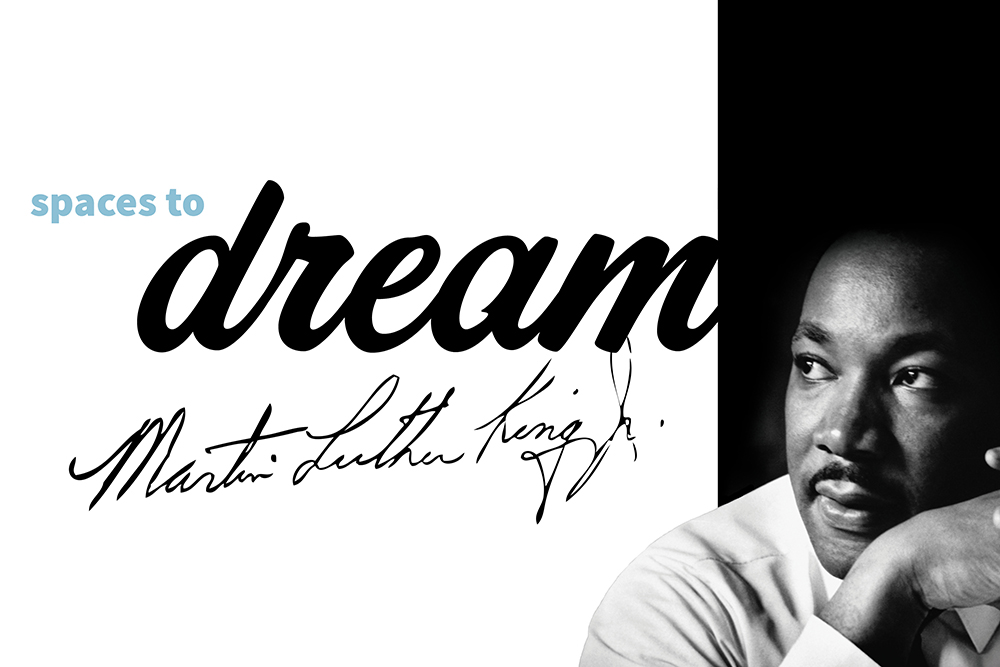 Martin Luther King Jr. with word Dream