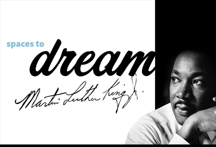 Picture of Martin Luther King Junior with word dream