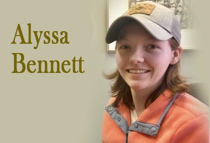 Picture of Alyssa Bennett in a baseball cap