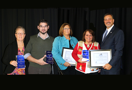 Winners of the SKYCTC Award Of Excellence presented by SKYCTC President Dr. Phillip Neal