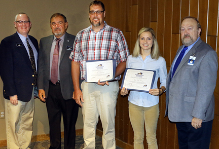 Each year Southcentral Kentucky Community and Technical College (SKYCTC) awards the Presidential Scholarship to two students at the annual Glasgow/Barren County Industry Appreciation Week breakfast held this year at Barren River State Park on Friday, September 14, 2018.